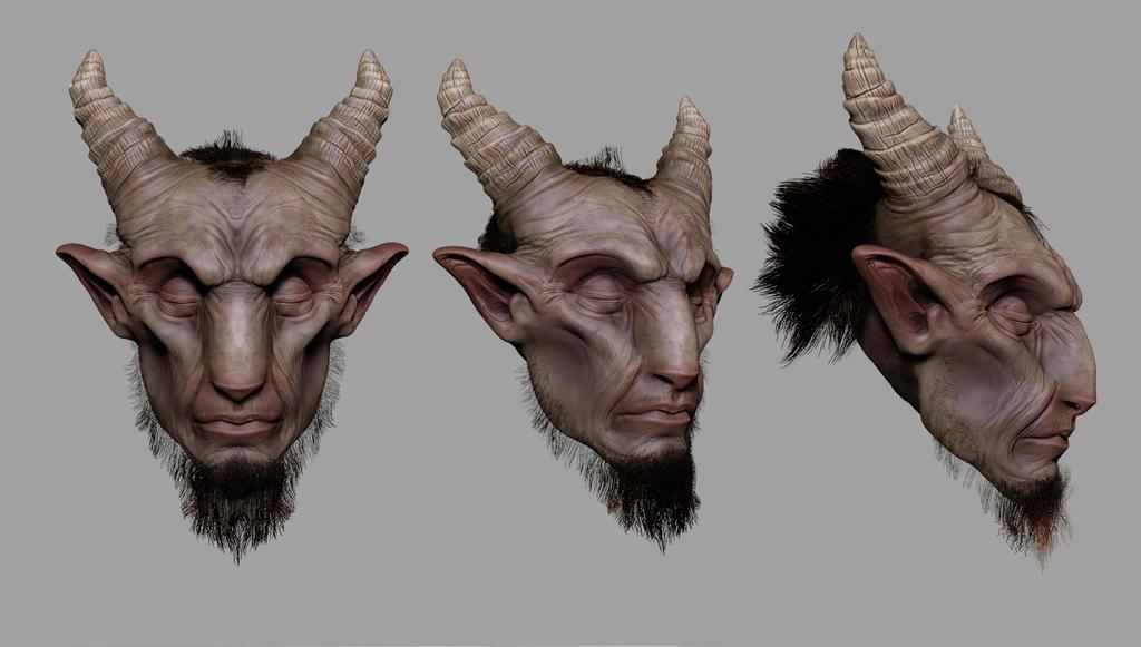 Evil goat art