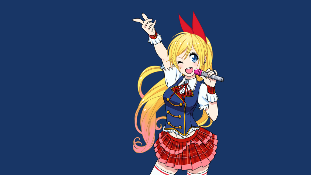 chitoge kirisaki wallpaper by blackmoon329 on deviantart