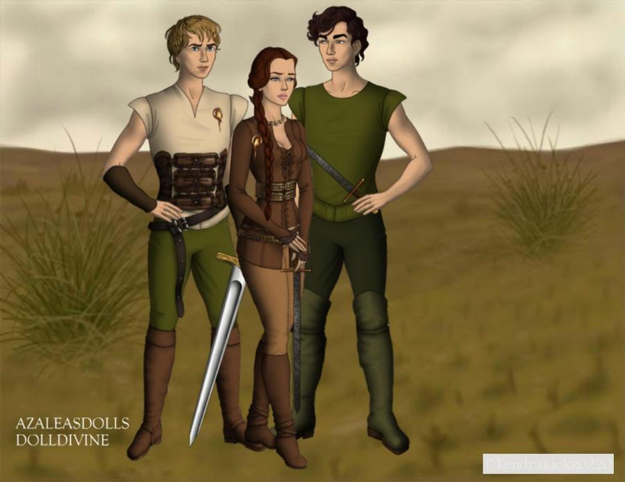 Peeta, Katniss and Gale by KendraKickz0220