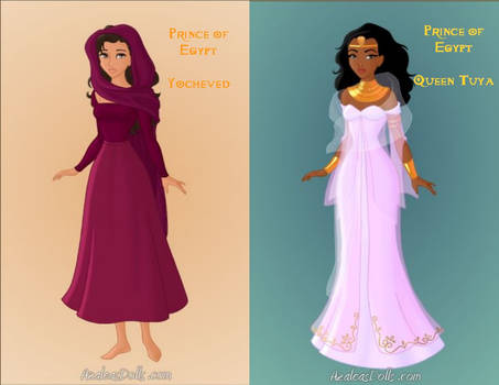 Prince of Egypt: Yocheved and Queen Tuya by KendraKickz0220