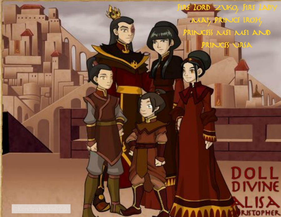 Fire Lord Zuko's Family by KendraKickz0220 on DeviantArt