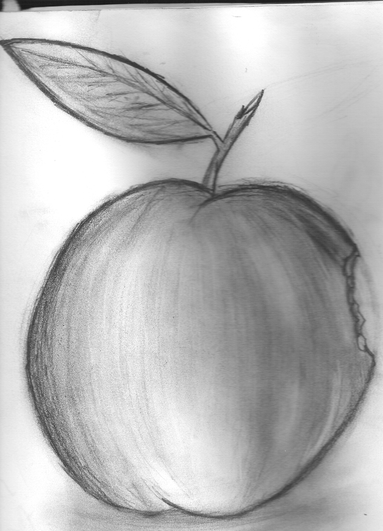 Apple Sketch by VioletNightfire