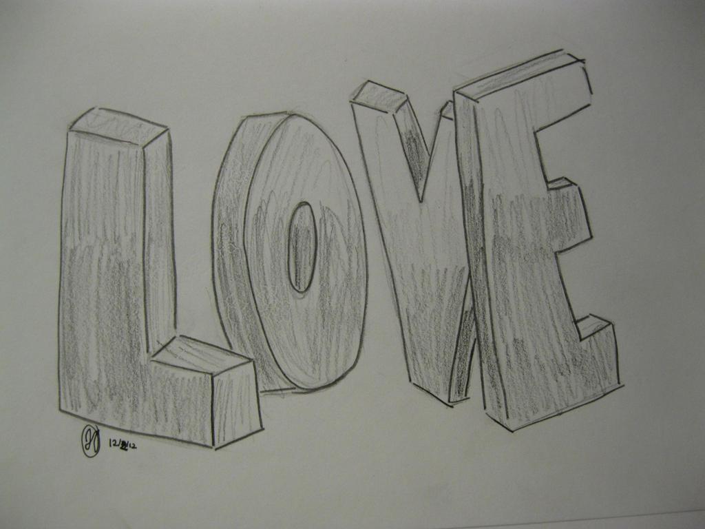 LOVE 3D Letters By RegiGirl1218 On DeviantArt