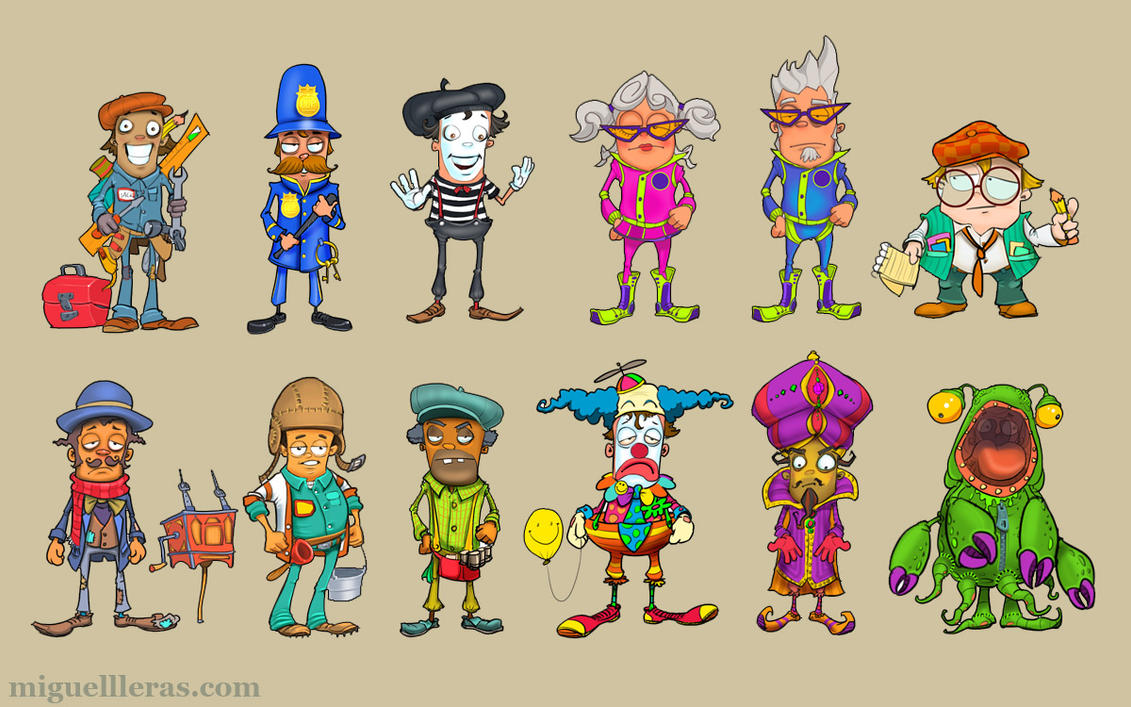 Cast of Characters 1 by Miggs69
