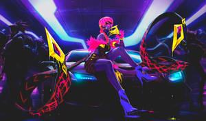 Evelynn League of Legends KDA neon