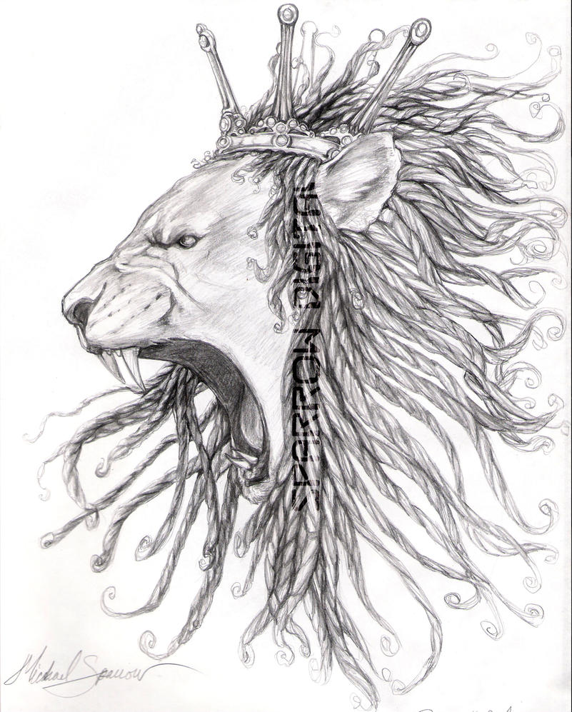 Lion with dreads tattoo drawings - photo#15
