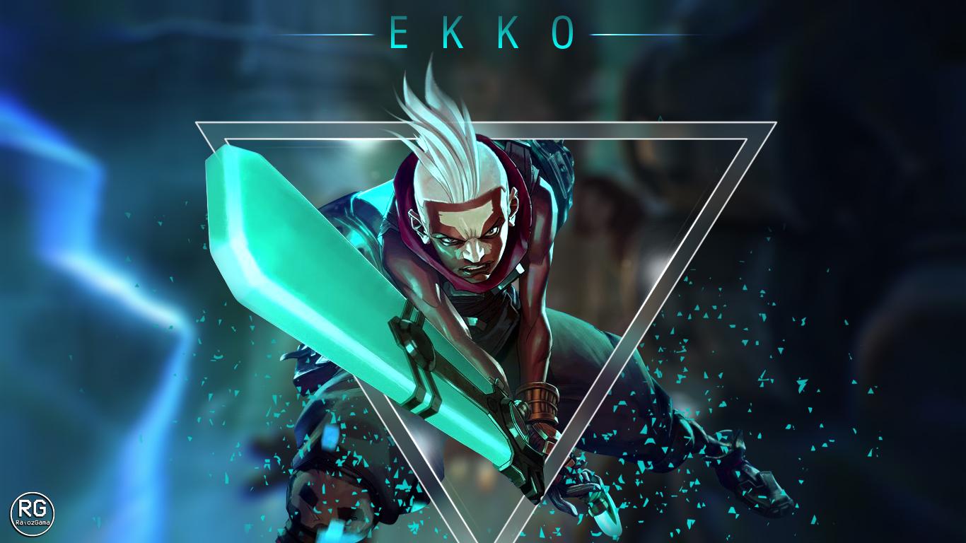 league of legends - ekko wallpaper - 1366x768raiozgama on deviantart