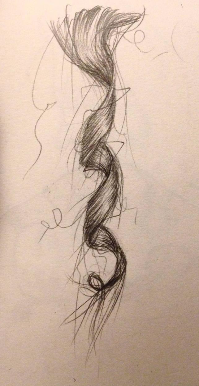 My hair made a curl