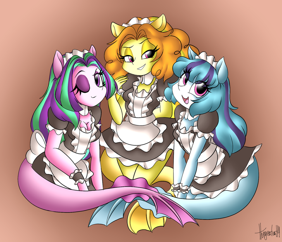Siren Maids (Final version, original in desc) by thegreatcat14