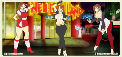 Chun-Li cosplays SNK pt. 4 by omegalife