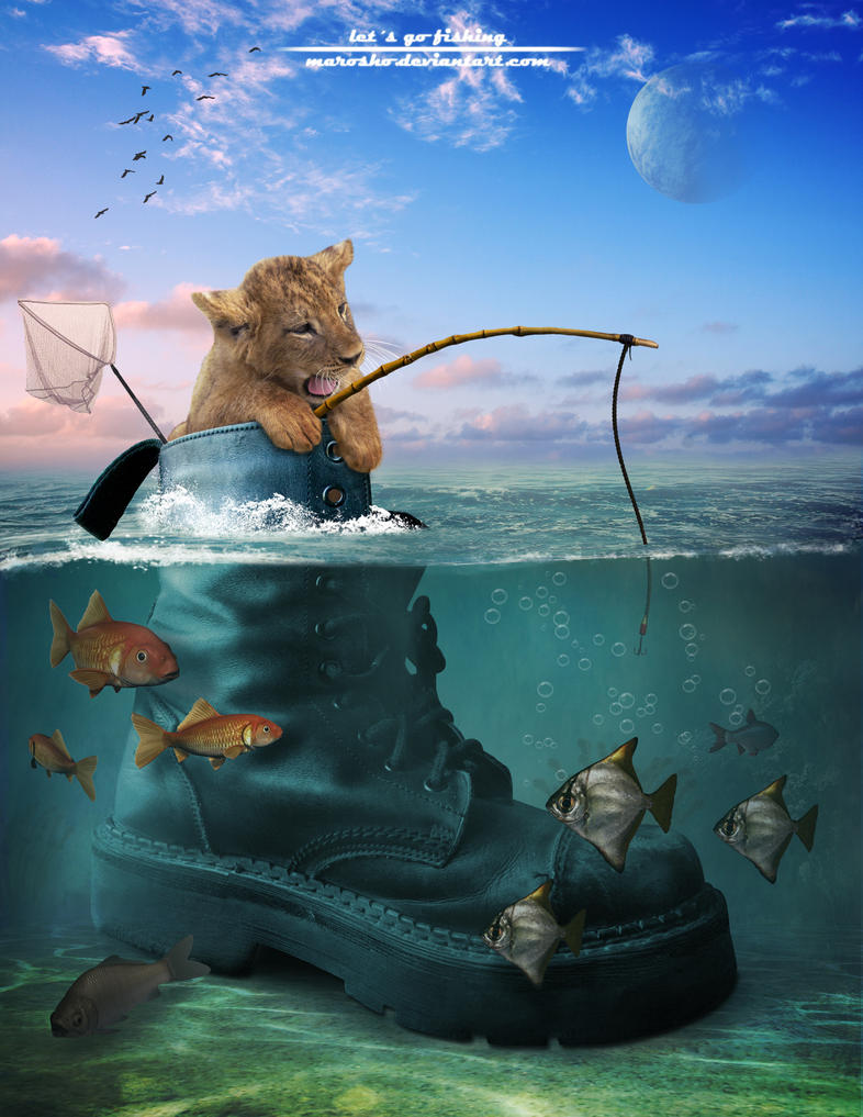 Lets go fishing by marosho on deviantart for How to go fishing