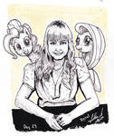 Inktober : Andrea Libman with the ponies! by digiral