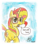 Sunset Shimmer - Get Well Soon