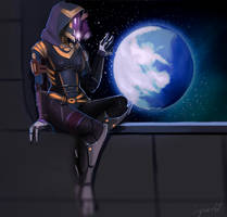 Tali'Zorah - Mass Effect by LoginovLS