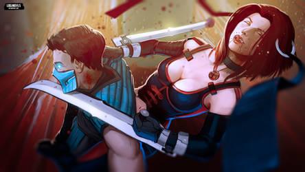 Bloodrayne vs Sub-Zero - Mortal Kombat by LoginovLS