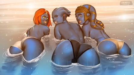 Mystique, Liara T'Soni and Aayla Secura
