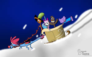 Sylvia's Wild Sleigh Ride by Serpanade-Toons