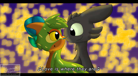 Fake Screenshot: Feel the Love Tonight (Art Trade) by Serpanade-Toons