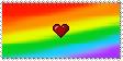 :Love Rainbows Stamp: by Yui-Amoshi
