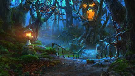 creepy treehouse by VityaR83
