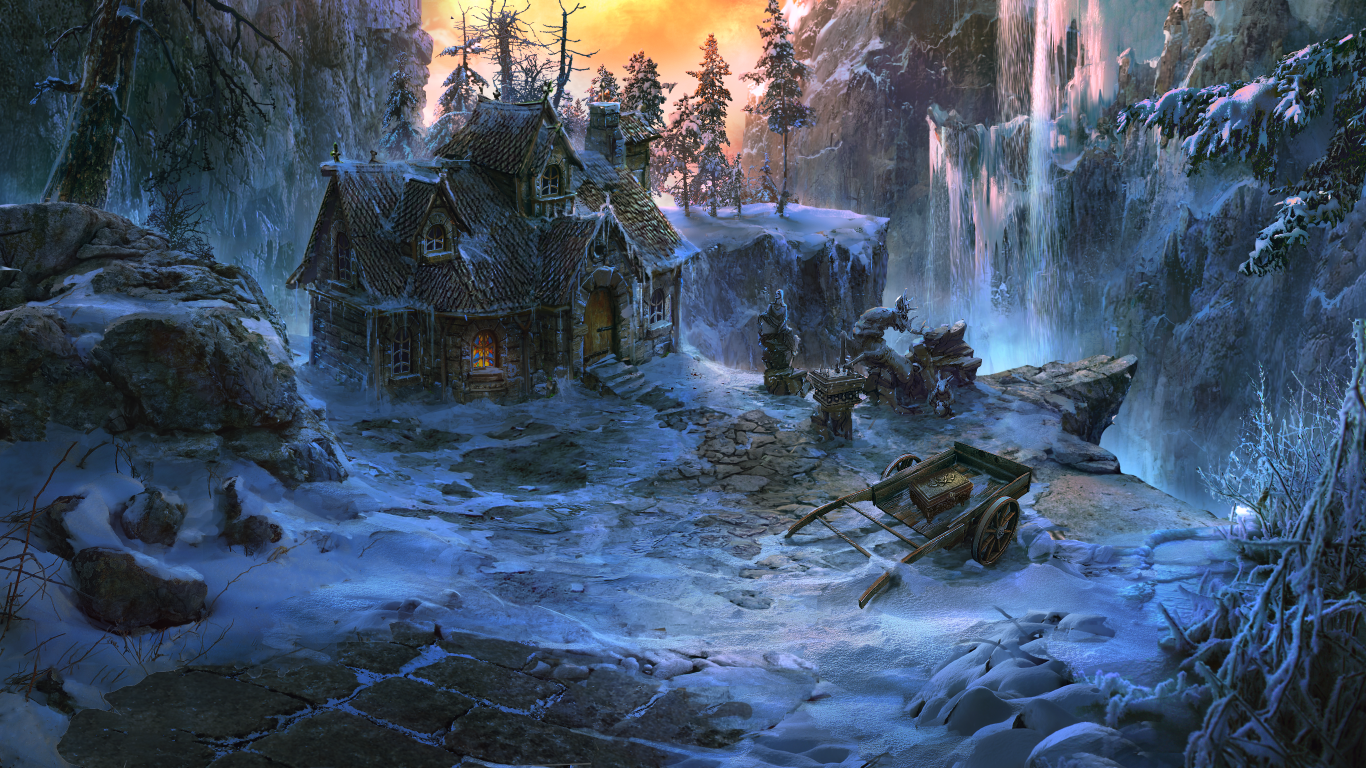winter cabin by VityaR83
