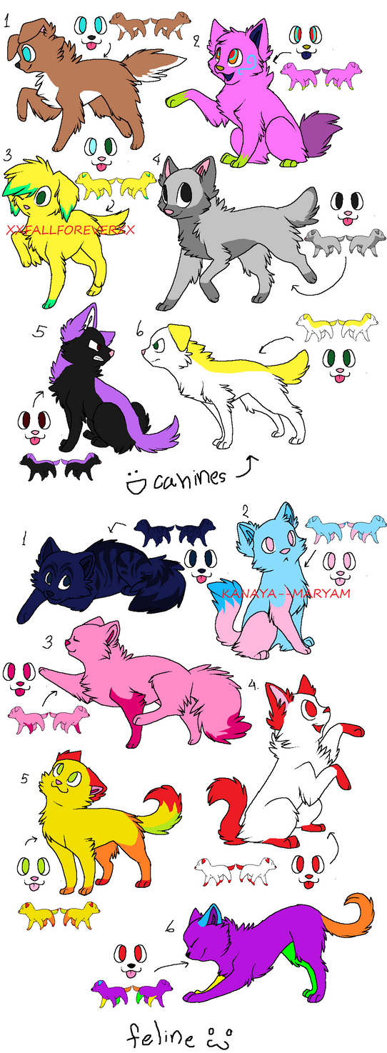 5 point adoptables (10/12 open) by xXFallForeverXx