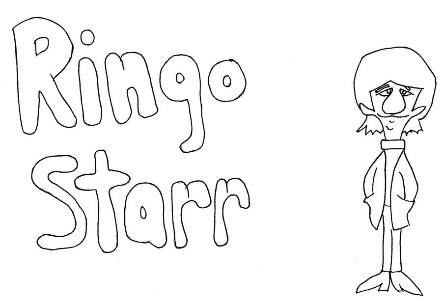 Ringo starr coloring page by paulbabe on deviantart for Beatles coloring book pages