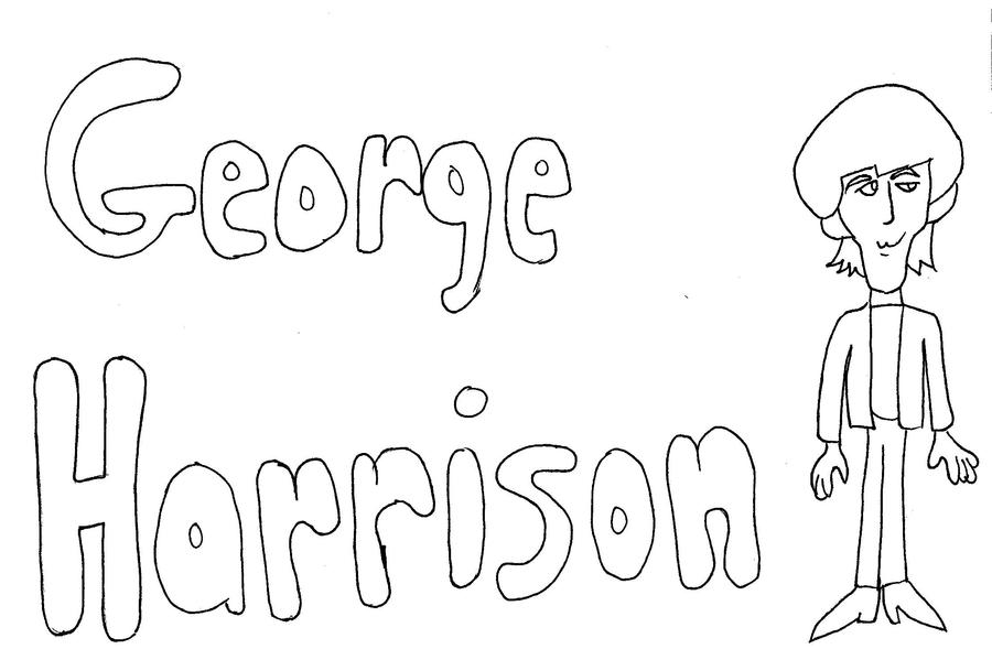 George harrison coloring page by paulbabe on deviantart for Beatles coloring book pages
