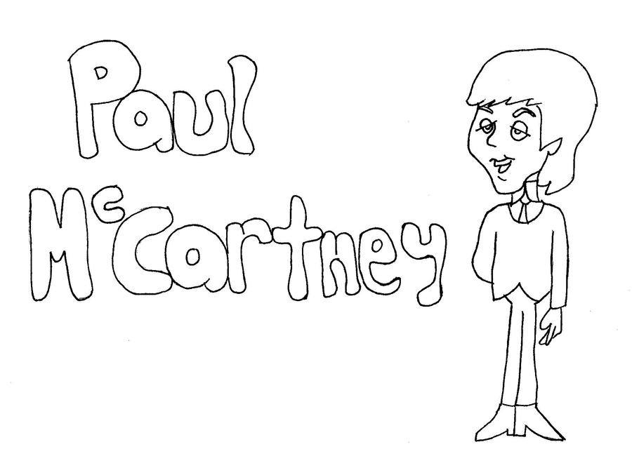 paul mccartney coloring page by paulbabe - Beatles Coloring Book