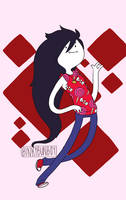 Adventure Time - Fashion Marceline by binkybunboy