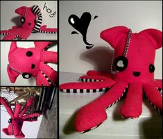 Pirate Squid Plush. by PirateOctopus