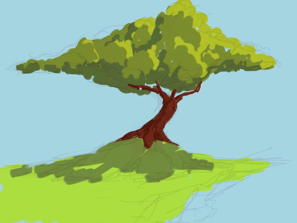 Tree daily sketch  by tiagocastanha