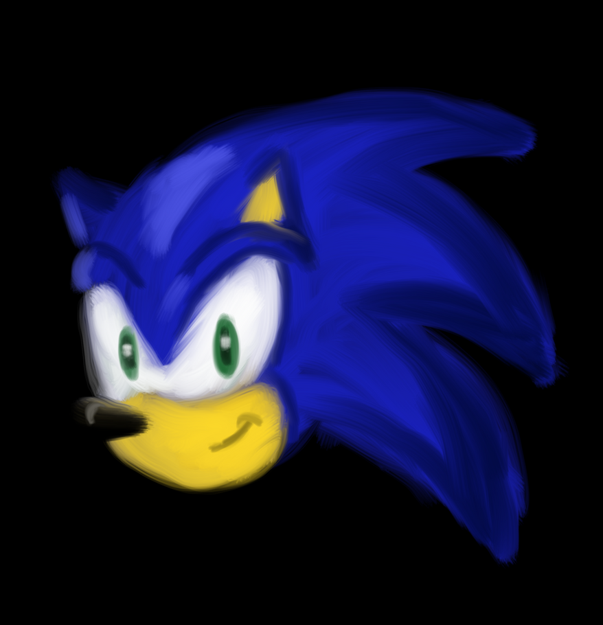 Sonic digital painting test by Jason-de-LEpee