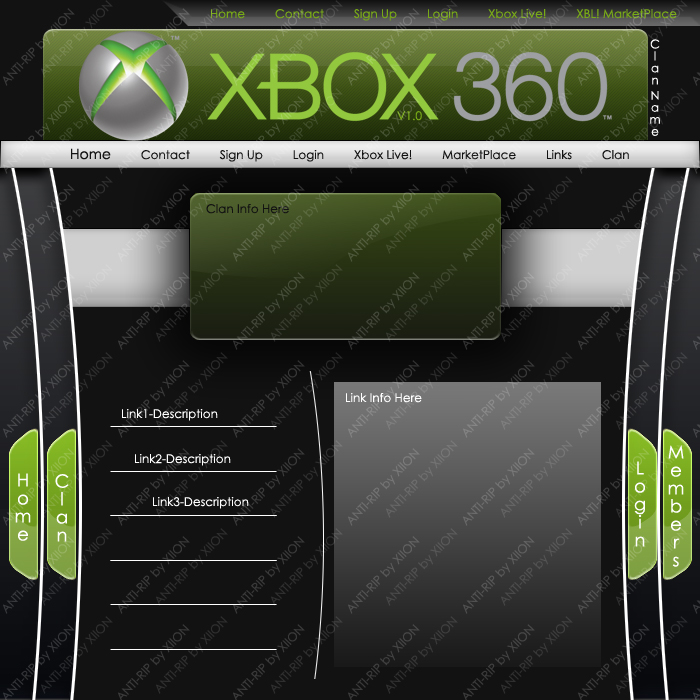 Xbox 360 Clan Template By Xiion On DeviantArt
