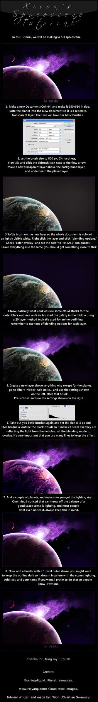 spacescape tutorial by Xiion