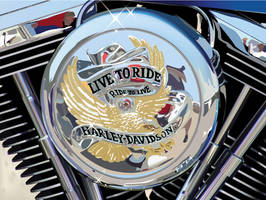 Harley Motor by WickedAwsome
