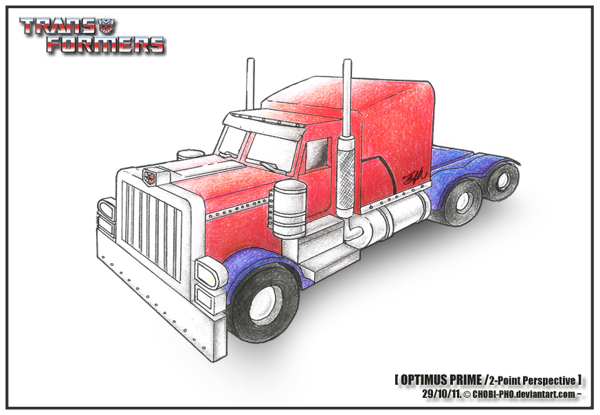 Tf Optimus Prime Two Point Perspective By Chobi Pho On Deviantart