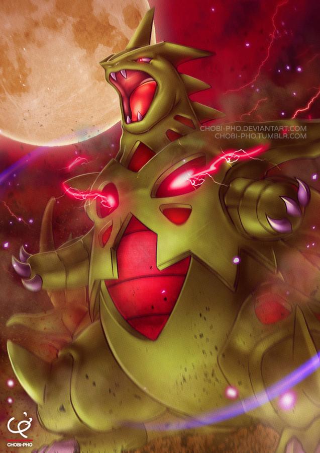 the raging sandstorm mega tyranitar by chobi pho