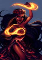 Volcanoe Goddess Pele by Blushy-Pixy