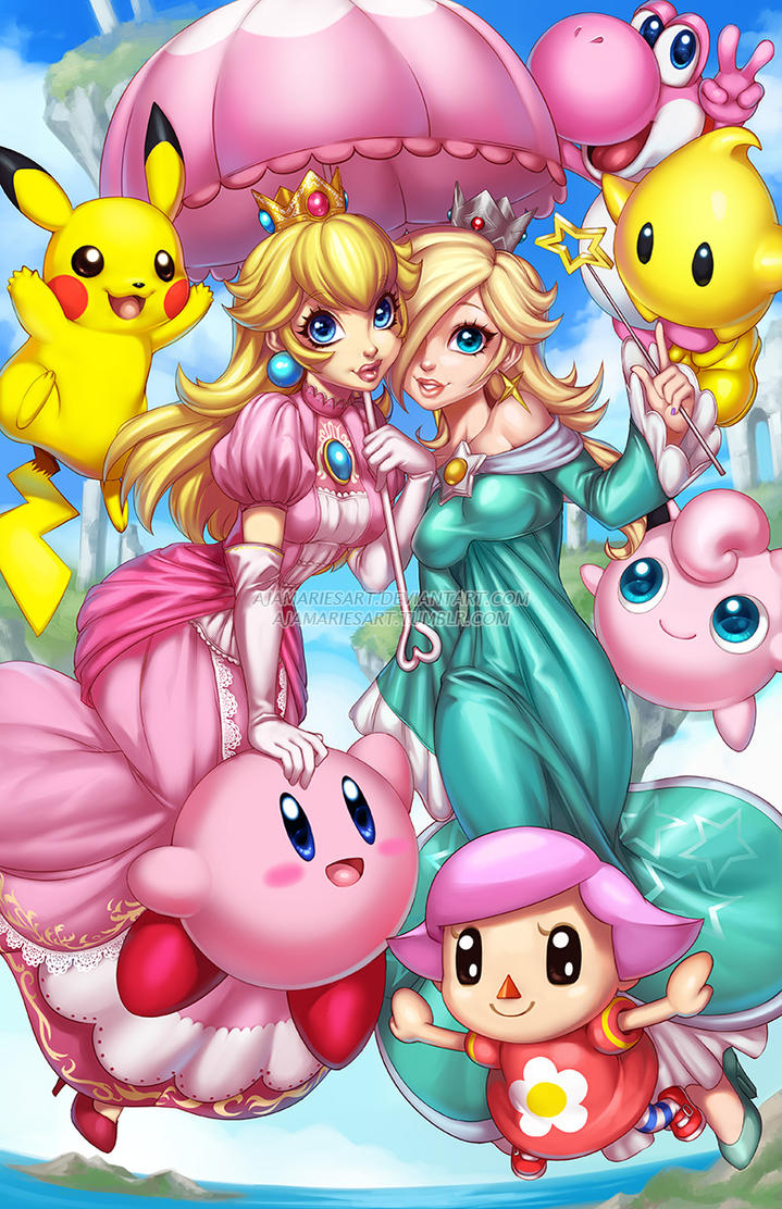 Super Smash Cuties by AjamariesArt