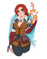 Triss Merigold by Blushy-Pixy