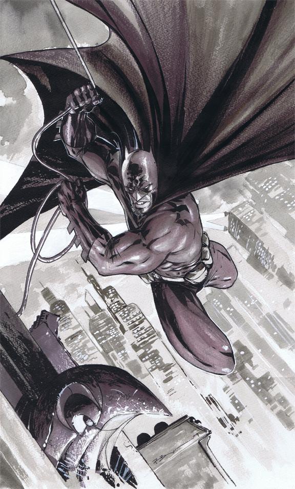 Batman Commission BW by ryanbnjmn