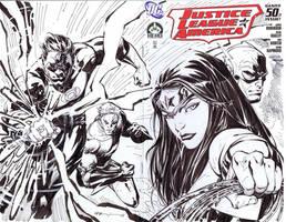 JLA sketch cover