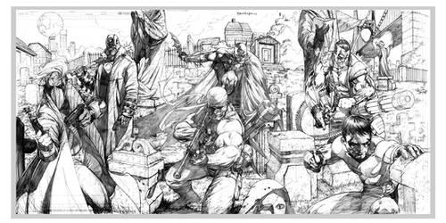 Batman, Deathblow and others.. by ryanbnjmn