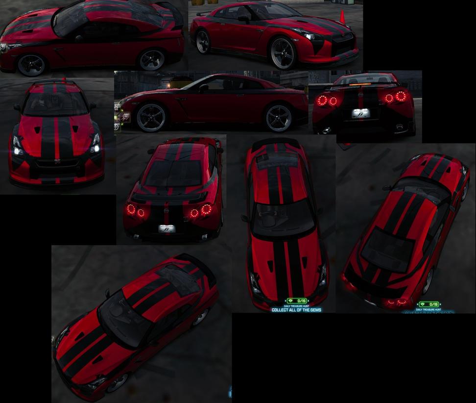 Nissan Gt R Spec V Red Nfsw By Exidrial On Deviantart