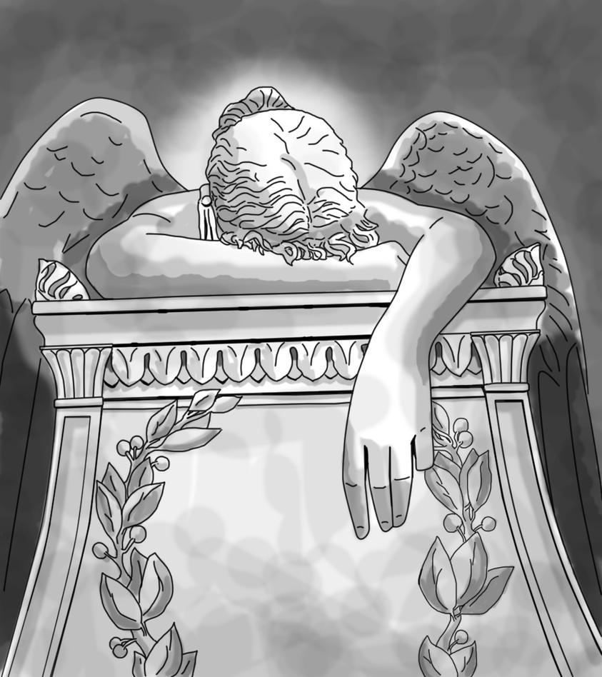 Fallen Angel Statue by lcamaral