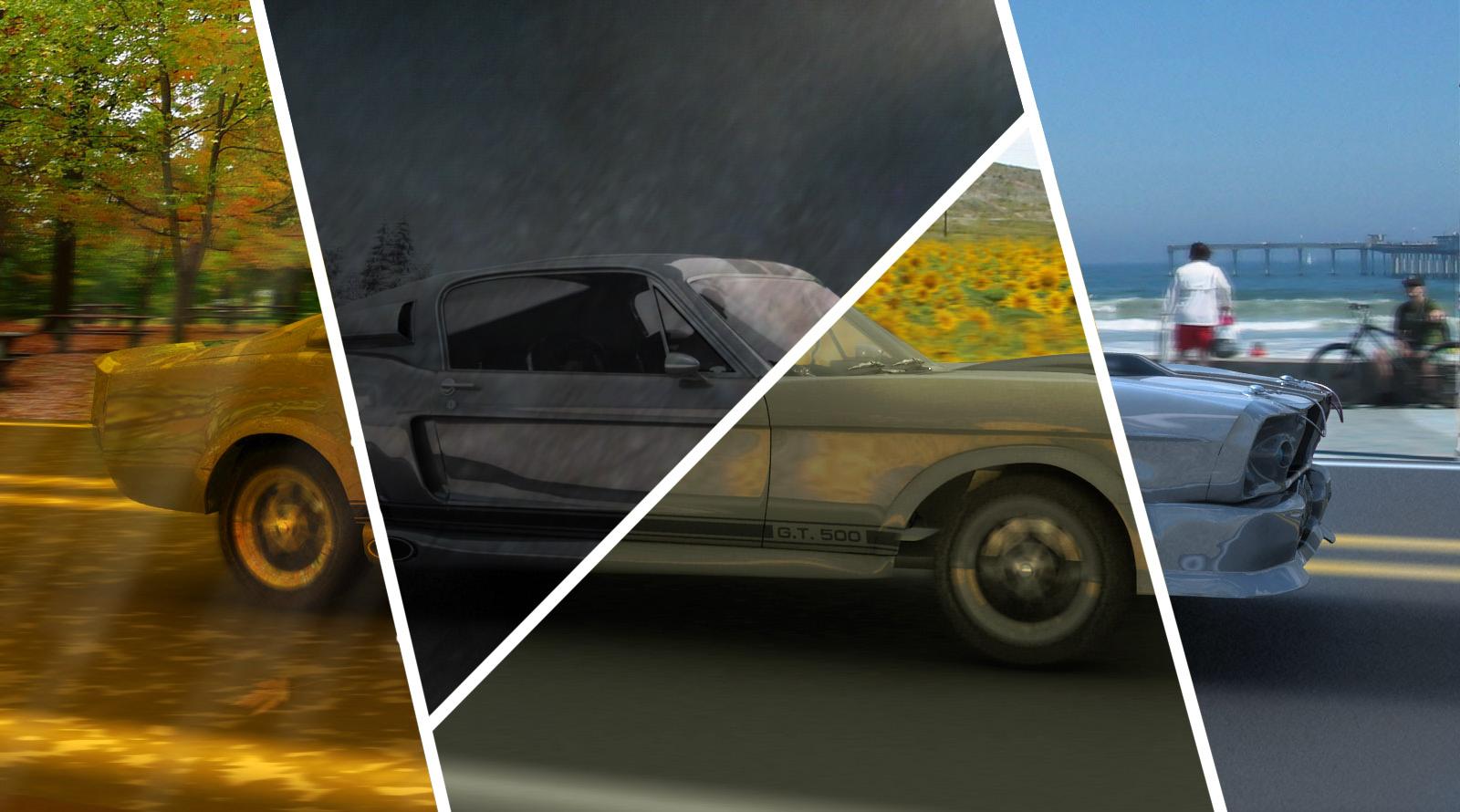 Mustang 4 Seasons Composite by lcamaral