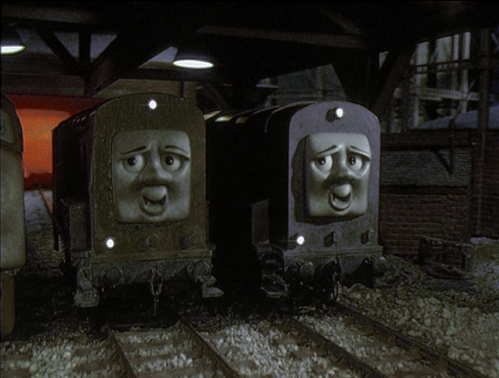 Splatter And Dodge Have Faces Not Seen In The Film By