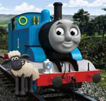 Thomas and Shaun the sheep