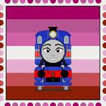 Lesbian Hong Mei - TTTE Headcanon Stamp